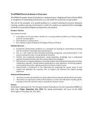 Preceptor Award of Excellence - Registered Practical Nurses ...