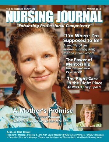 Sample of The Registered Practical Nursing Journal