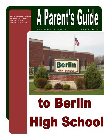 Student Handbook - Berlin Area School District