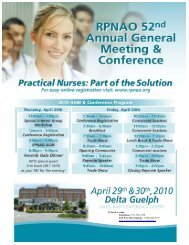 2010 AGM Conference Program - RPNAO