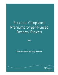 Structural Compliance Premiums for Self-Funded Renewal Projects