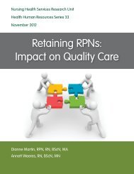 RPNAO Recruitment and Retention Project: Focus Groups
