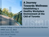 A Journey Towards Wellness - Ontario College of Social Workers ...