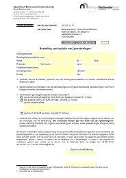 bestelbon - Nationale Bank van België