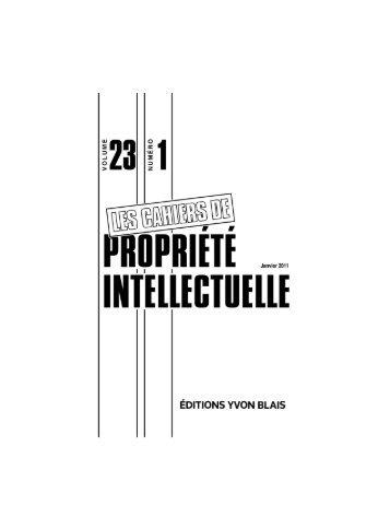 Janvier 2011 - vol. 23, no 1 - Léger Robic Richard
