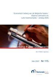 Working Paper 115 - Nationale Bank van België