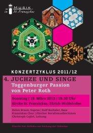4. JUCHZE UND SINGE - Musik in St. Franziskus