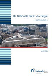 De Nationale Bank van België - Hoofdactiviteiten