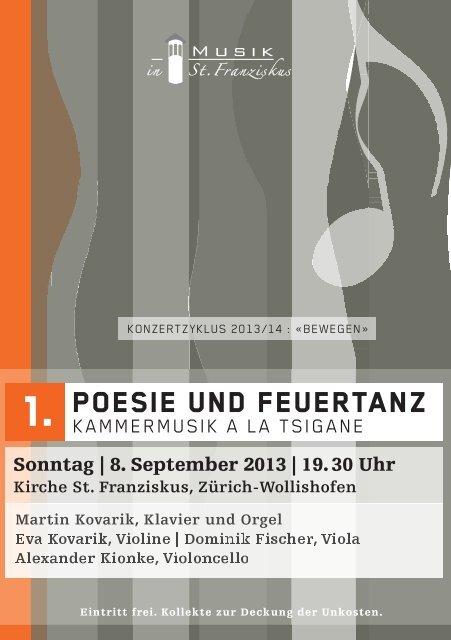 Poesie und feuertanz - Musik in St. Franziskus