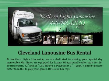 Cleveland Limousine Bus Rental