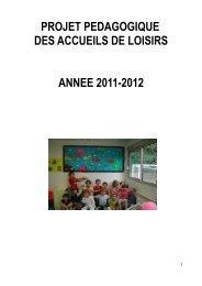 projet pédagogique - Montlouis-sur-Loire