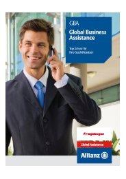 Fragebogen - Allianz Global Assistance Reiseversicherung