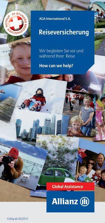Allianz Global Assistance Broschüre 2012