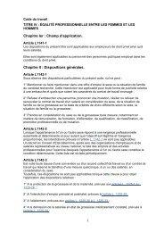 Code du travail- Egalité prof - Ligue des droits de l'Homme