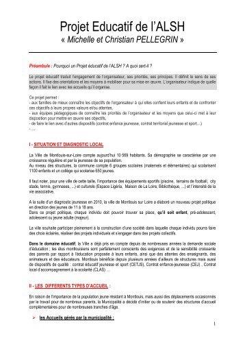 Le projet éducatif - Montlouis-sur-Loire