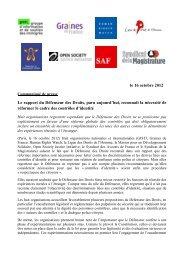 Le rapport du Défenseur des Droits, paru aujourd'hui, reconnaît la ...