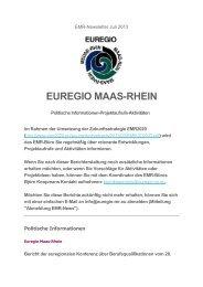 EMR-Newsletter Juli.pdf - Stichting Euregio Maas Rhein