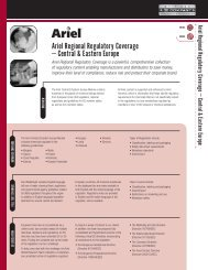 Ariel Regional Regulatory Coverage – Central ... - 3E Company