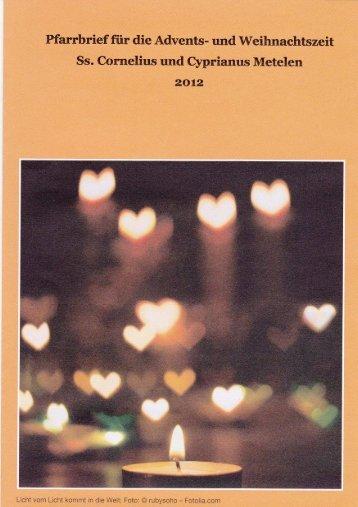 Weihnachtspfarrbrief 2012 - Kath. Kirche Metelen