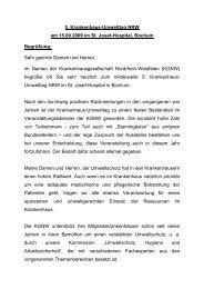 Begrüßung - Arbeitskreis Umweltschutz im Krankenhaus NRW