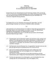 Satzung ( Benutzungsordnung ) für die Stadtbücherei der Stadt Mölln