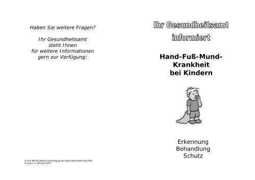Hand-Fuß-Mund- Krankheit bei Kindern