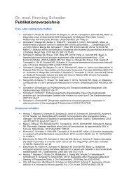 Dr. med. Henning Schrader Publikationsverzeichnis - Sana ...
