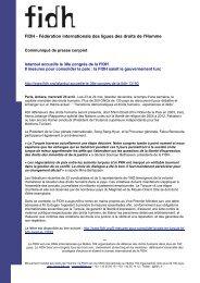 FIDH - Ligue des droits de l'Homme