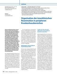 Organisation der innerklinischen Reanimation in peripheren ...