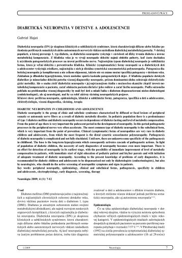 Diabetická polyneuropatia v detstve a v adolescencii - snmo.sk