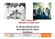 + Vortrag HAT vs. MET, Situation in Österreich - Austrian ...