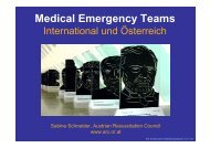 Medical Emergency Teams - Austrian Resuscitation Council
