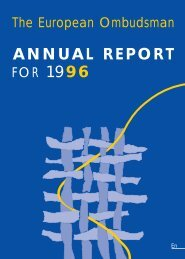ANNUAL REPORT FOR 1996 - EOI