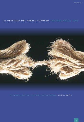 EL DEFENSOR DEL PUEBLO EUROPEO INFORME ANUAL 2005