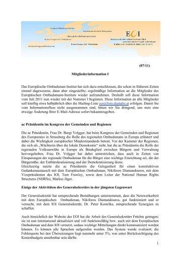 Mitgliederinformation 8 - 2011-07 (D).pdf - europäisches ...