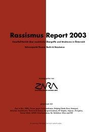 Rassismus Report 2003 - Zara