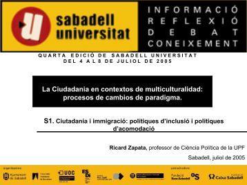 La Ciudadania en contextos de multiculturalidad - Sabadell Universitat