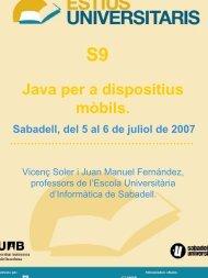 Java en dispositivos móviles - Sabadell Universitat