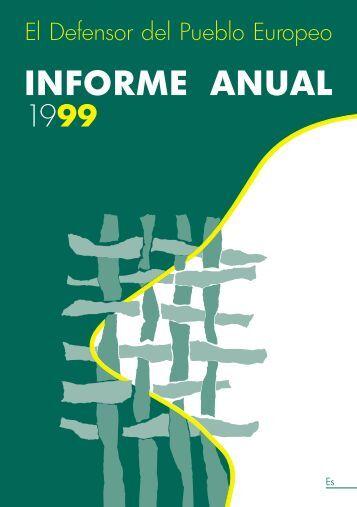INFORME ANUAL 1999