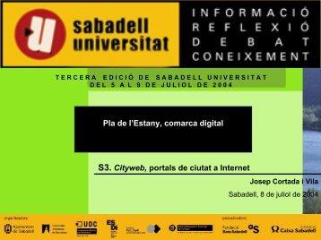 Pla de l'Estany, comarca digital - Sabadell Universitat