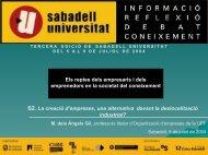 sociedad del conocimiento - Sabadell Universitat