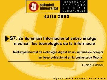 PROYECTO i2cat. - Sabadell Universitat