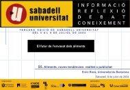 Envasado de alimentos - Sabadell Universitat