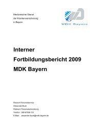 Interner Fortbildungsbericht 2009-fertig - MDK Bayern