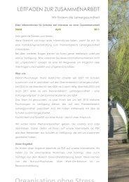 informationen zur organisation - Holzrichter