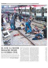 EL 11-M: LA MAYOR MASACRE DESDE LA GUERRA CIVIL