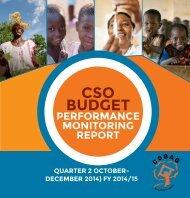 CSO BUDGET PERFORMANCE MONITORING REPORT
