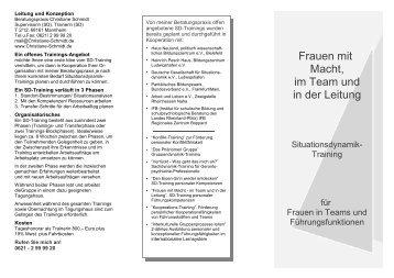 Frauen mit Macht, im Team und in der Leitung - Christiane Schmidt
