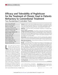 Efficacy and Tolerability of Pegloticase for the Treatment of Chronic ...