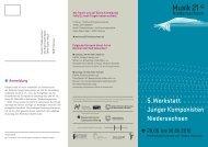 5. Werkstatt Junger Komponisten Niedersachsen, Flyer